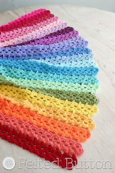 Crochet Pattern Pansy Parade Blanket Afghan Blanket
