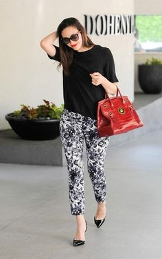 Emmy Rossum print pants