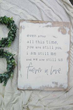Forever in Love Farmhouse Style Sign   Farmhouse Decor   Rustic   Cottage   Fixer Upper   Home Decor #Ad