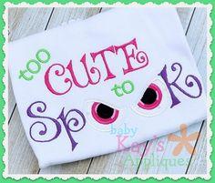 Baby Kay's Appliques - Too Cute to Spook 4x4, 5x7, 6x10, 8x8, $3.00 (http://www.babykaysappliques.com/too-cute-to-spook-4x4-5x7-6x10-8x8/)