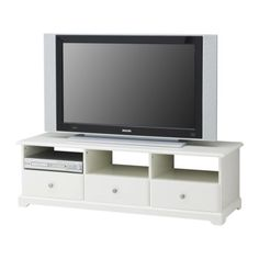 LIATORP TV unit IKEA Smooth running drawers with drawer stop. Open back; makes cable organizing easy.
