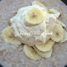Ripped Recipes - Peanut Butter and Banana Egg White Oats - Cannot even express how delicious this is - almost too good to be true!