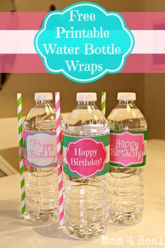 free printable water bottle wrappers