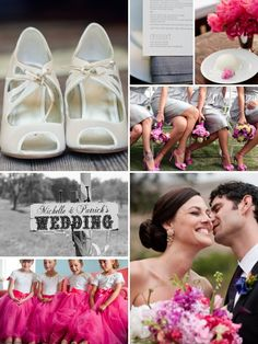 Pink, grey and white wedding inspiration.
