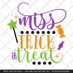 Miss Trick or Treat  SVG Vector DXF EPS by DainteeDesignsSVGs