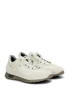 PACIOTTI 4US - Sneakers - Uomo - Sneaker in tessuto e pelle con logo su lato esterno. Suola in gomma, tacco 30, platform 20 con battuta 10. - BIANCO