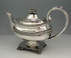 Baldwin and Jones Antique Coin Silver Teapot Circa 1815 Boston