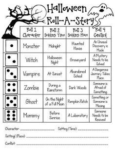 MRS. MCFADDEN'S CLASSROOM BLOG: Halloween Writer's Workshop: Common Core Aligned