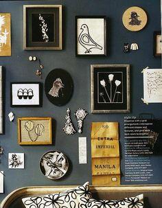 via Domino Magazine  gold, grey, black, white