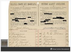 This activity explores a petition signed by over 21,000 native Hawaiians against a treaty that would have annexed Hawaii to the United States.