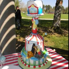 Jacobs first birthday cake - carnival theme
