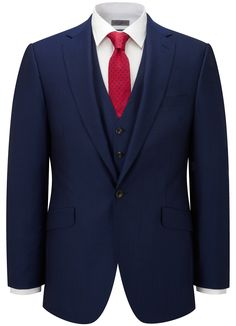 Contemporary Fit CUT Electric Blue Jacket - All Suits > - Austin Reed