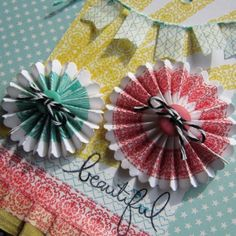 Washi tape ~ embellishments make beautiful cards and scrapbook pages.