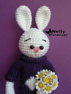 Nelly Handmade: Зайка-поздравляйка. Описание