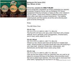 Appalachian Brewing - Batch No 666 & Multigrain IPA Series