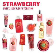 After sweet, suculent hydration? Then add a little fruity strawberry to your bat… After sweet, suculent hydration? Then add a little fruity strawberry to your bath and body care routine! Body Shop At Home, The Body Shop, Strawberry Perfume, Sugar Scrub Homemade, Health And Beauty Tips, Diy Skin Care, Body Care, Face Care, Beauty Care