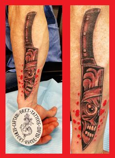 knife and sharpener tattoo by joshua hibbard joshuahibbard chef ink pinterest. Black Bedroom Furniture Sets. Home Design Ideas