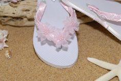 Pink bridal Flip Flops   P  5  by GitanaBridal on Etsy, $25.00