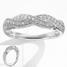 Simply Vera Vera Wang 14k White Gold 1/3-ct. T.W. Diamond Twist Ring