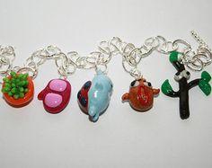 I'm Catbug Charm Bracelet! Bravest Warriors, Hobby Ideas, Vintage Marketplace, Adventure Time, Nerdy, Polymer Clay, Charmed, Drop Earrings, Cartoon