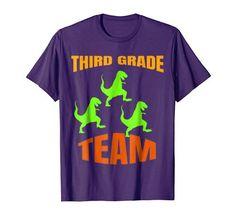 1699 Team 3rd Third Grade T Shirt Dinosaurs Gift For Boys Girls