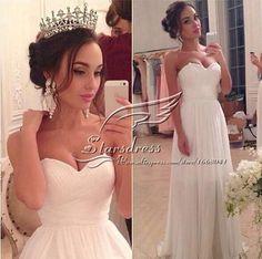 9067 custom made White Ivory Chiffon Sweetheart Bride Dresses Wedding Big Skirt Beach wedding maxi formal plus size 2-26W