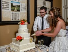 cutting the cake. longhorn cake. Wedding at Arlington Heights United Methodist and The Fort Worth Club