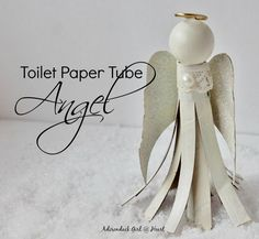How to Make a Toilet Paper Tube Angel