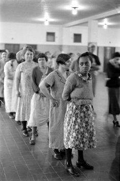 """Pilgrim State Hospital, Brentwood, NY, 1938.......REMINDS ME OF THE MOVIE: """"THE SNAKE PIT""""......THE INMATES WERE ALLOWED TO WALK ON THE OUTSIDE OF A FLOOR CARPET --- BUT - N E V E R - TOUCH THE CARPET.......SAID A NURSE:  """"WE DON'T WANT TO GET THE CARPET DIRTY NOW, DO WE ???""""...............ccp"""