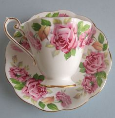Vintage China Vintage Royal Standard Bone China Tea Cup and Saucer via Tania Verney