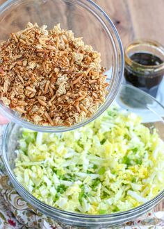 The BEST Ramen Noodle Salad isn't like anything you've ever tasted before! get the recipe at barefeetinthekitchen.com