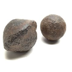 Moqui Marbles 18 Set of 2 Brown Shaman Stones Mineral Ball Pair