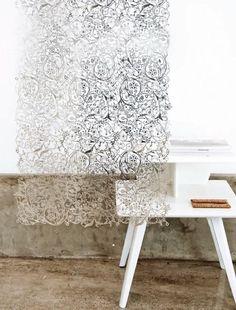 Silver Metal Room Divider Panel Set