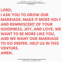 A great tool for any marriage is prayer. We all need Jesus and so do our marriages. Here are 30 prayers for a strong marriage, right in the post, to help you with your marriage at any stage. Saving A Marriage, Save My Marriage, Happy Marriage, Marriage Advice, Love And Marriage, Relationship Advice, Relationship Repair, Marriage Retreats, Couples Prayer