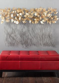metal wall art decor for living room decorations images stratton home brushed gold flowing leaves grey in our sculptural is a brilliant way to mix metals into your everyday space and an interesting step away from
