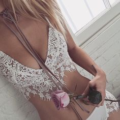 Evening lace in the Giselle Set  Shop with link in bio. #ForLoveandLemons