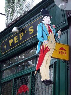 Paris - Passage de l'Ancre by Geert Schotanus, via Flickr. Signboard of PEP's, an umbrella and parasol shop