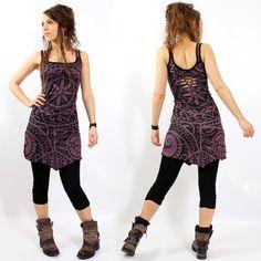 "Robe gado gado ""electra polynesian"", kaki-noir taille s Mode Hippie, Mode Boho, Looks Hippie, Look Boho Chic, Cute Outfits, Casual Outfits, Girly Outfits, Mode Inspiration, Mannequins"
