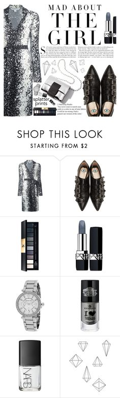 """Untitled #2155"" by anarita11 ❤ liked on Polyvore featuring Diane Von Furstenberg, Kershaw, Gucci, Christian Dior, Michael Kors, NARS Cosmetics and Umbra"