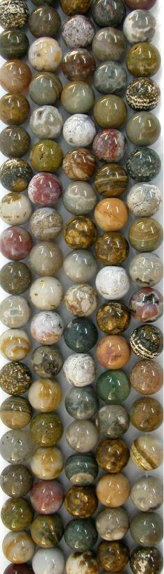 Colorful Ocean Jasper 12mm Round Beads, 16in Str