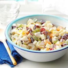 Company Fruit Salad Recipe -We first tried a salad like this at a local deli. Si… Company Fruit Salad Recipe -We first tried a salad like this at a local deli. Side Recipes, New Recipes, Holiday Recipes, Cooking Recipes, Healthy Recipes, Recipies, Party Recipes, Cooking Tips, Vegetarian Recipes