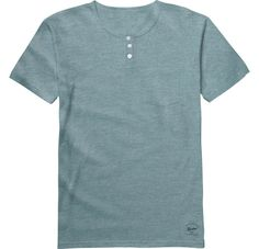 Burton Pippin short sleeve Henley Heather Slated