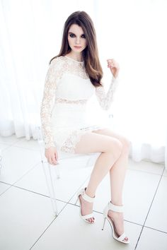 White Long sleeve crochet dress Happy B Day, New Shop, White Long Sleeve, New Fashion, White Jeans, Crochet, Pants, Shopping, Collection