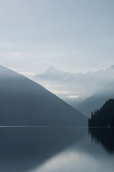 Chilliwack Lake in British Columbia, Canada ~ photographer Zach Copland.  Beautifully proportioned shot.