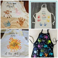 Father's Day handprint gifts: aprons