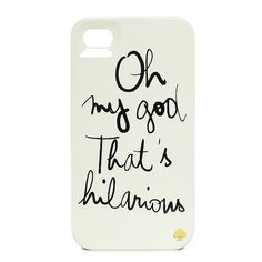 Garance Dore Hilarious iPhone Case by Kate Spade. OMG ... YES!!! :D