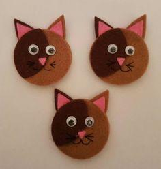 20 Felt Die Cut Cat Embellishment Topper Decoration Card Making Scrapbook Craft