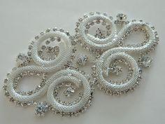 Bridal Accessories Crystal Applique Wedding by AppliqueRhinestones