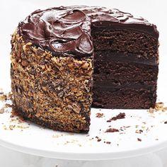 Chocolate Buttermilk Layer Cake (Intermediate; 1 (8-inch), three-layer cake) #chocolate