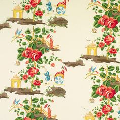 It's been a while since an amazing Chinoiserie fabric has stopped me in my tracks. At this point, I feel like I know them all...but then I ...